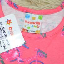Vestido Floral com franzidos rosa - 3 meses - Brandili
