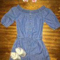 macaquinho jeans - 18 a 24 meses - River Island