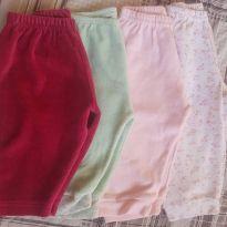 kit calças bebê menina - 3 a 6 meses