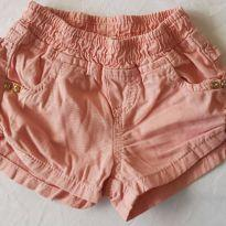 shorts salmão tamanho m - 6 a 9 meses - yoyo Baby
