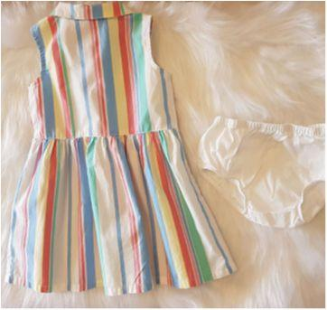 vestido listrado carter`s 18 meses - 18 meses - Carter`s