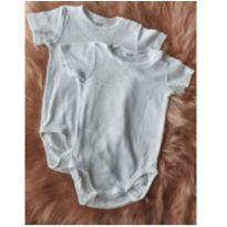 kit 2 body`s branco h&m 9-12 meses - 9 a 12 meses - H&M