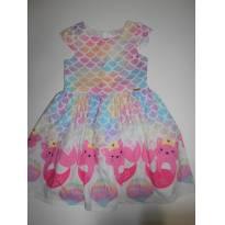 Vestido Mon Sucre gatinha sereia - 2 anos - Mon Sucré
