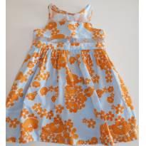 Vestido Alphabeto flores laranjas - 3 anos - Alphabeto