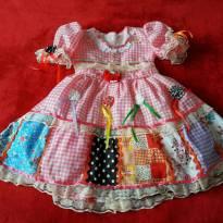 Vestido festa junina - 2 anos - Artesanal