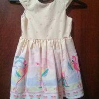 Vestido Mon Sucre flamingos - 3 anos - Mon Sucré