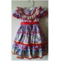 Vestido festa junina - 4 anos - Artesanal