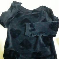 Blusa H&M manga longa corações - 4 anos - H&M
