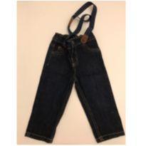 Calça jeans com suspensório nova - 9 meses - Carter`s