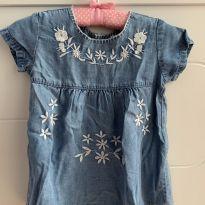 Vestido jeans - 6 a 9 meses - Zara Baby