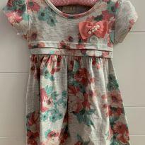 Vestido Flor cinza - 9 meses - Milon