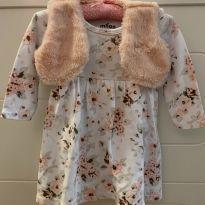 Vestido Flor com bolero - 9 meses - Milon