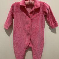 Macacão Plush Rosa - 0 a 3 meses - Baby Club