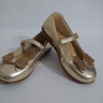 SUPER DESCONTO!! Sapato de festa dourado - 27 - Sonho de Menina