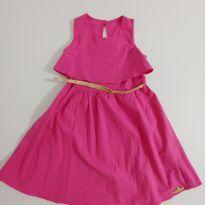 Vestido rosa com cinto - 6 anos - Colorittá