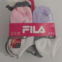 NOVIDADE! Kit com 10 pares de meias da Fila - 3 anos - Fila