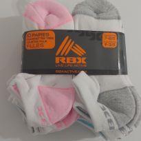 NOVIDADE! Kit com 10 pares de meias - 3 anos - RBX - USA