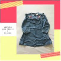 vestido jeans manga longa - 1 ano - Nick