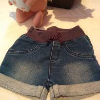 Short jeans - 3 a 6 meses - Hering Kids