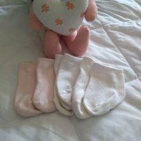 Kit meias - 0 a 3 meses - Pimpolho