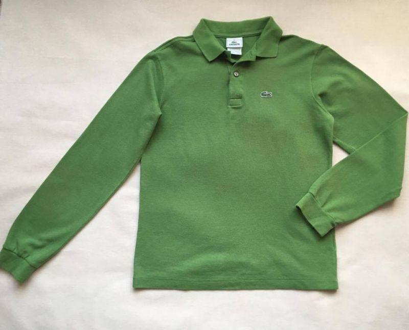 Camiseta Polo Manga Longa Verde Lacoste tamanho 12 Meninos (até 12 anos) 477fe934db