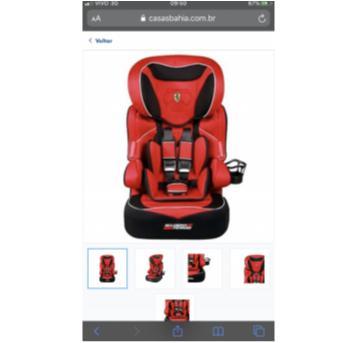 Cadeira para Automóvel Beline SP Fúria Ferrari - Sem faixa etaria - Ferrari