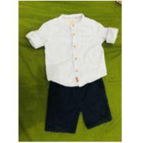 Conjunto camisa com bermuda e cinto - 1 ano - Cea, click house