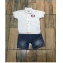 Conjunto camisa e bermuda - 2 anos - Tigor T.  Tigre