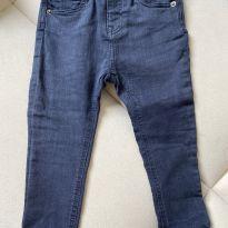Calça brim azul marinho skinny  Zara - 12 a 18 meses - Zara Baby