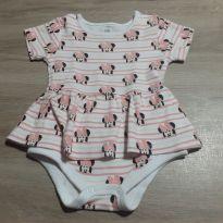 Vestido Minie - 3 a 6 meses - Disney baby