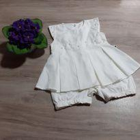 Vestido Body com perolas - 3 a 6 meses - bela fase