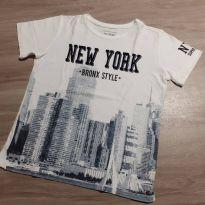 Camiseta estampa New York - 10 anos - Palomino