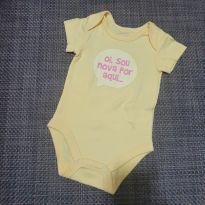 Body amarelo - 3 a 6 meses - Baby Club