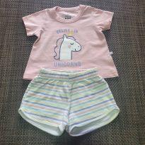 Conjunto Unicórnio Hering - 9 a 12 meses - Hering Kids