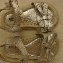 Sandália prata em couro - 16 - Ortopasso