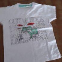 Camiseta de malha branca estampa bateria - 6 a 9 meses - Have Fun