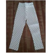 Calça legging branca de bolinhas pretas da Le Lis Petit - 4 anos - Le Lis Petit