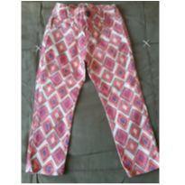 Calça estampada de rosa da Fábula - 4 anos - Fábula