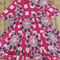 Vestido estampado de rosa da PUC - 2 anos - PUC