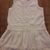 Vestido branco com rendinha da TIP TOP - 4 anos - Tip Top