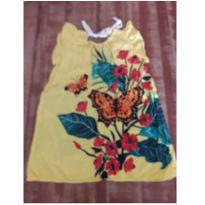 Vestido amarelo com estampada da Fábula - 4 anos - Fábula