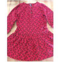 Vestidinho estampado vermelho BABY GAP - 4 anos - Baby Gap