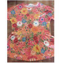 Vestido estampado florido Fábula - 4 anos - Fábula