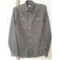 Camisa listradinha cinza da LEVI`S - 14 anos - Levi`s