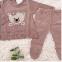 Conjunto ursinha tricô