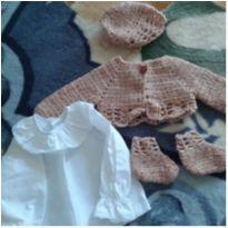 Conjunto tricot bebê - Recém Nascido - Não informada