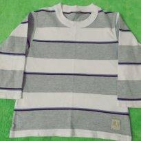 Camiseta Manga Longa Basica Listrada Milon Inverno - 3 anos - Milon