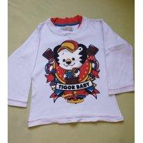 Camiseta Manga Longa Tigor T Tigre - 3 anos - Tigor T.  Tigre
