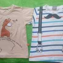 Lote Camisetas suspensório e girafinha - 3 anos - Rovitex e outra