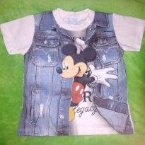 Camiseta Mickey Mouse Colete Falso - 3 anos - Disney e Cativa